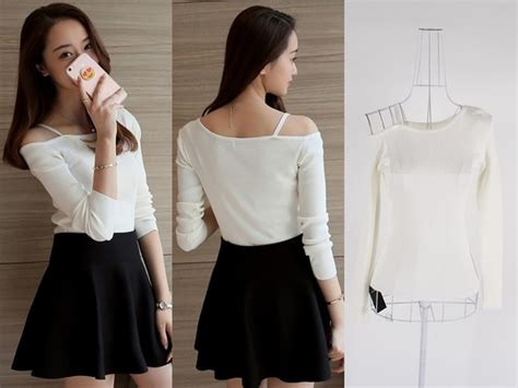 Sabrina Blouse Baju Atasan Atasan Wanita Baju Sabrina Denim jual baju atasan sabrina blouse rajut wanita korea import putih white black di lapak myesha