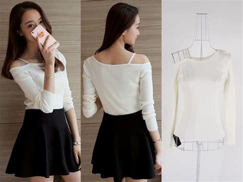 Blouse Atasan Import Baju Korea jual baju atasan sabrina blouse rajut wanita korea import
