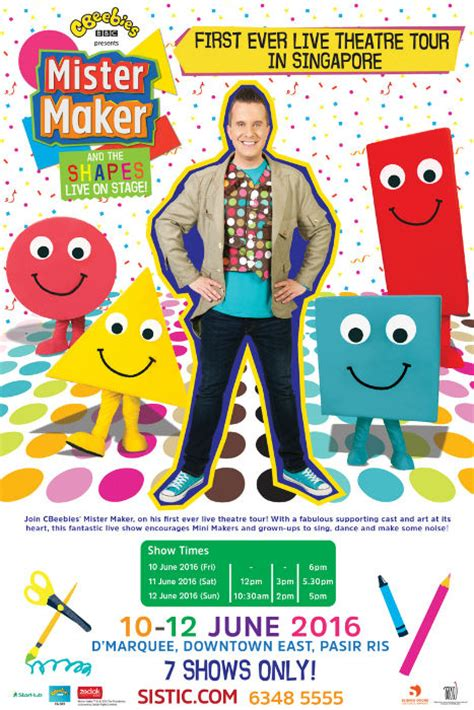 doodle maker cbeebies mister maker and the shapes mums and babies singapore