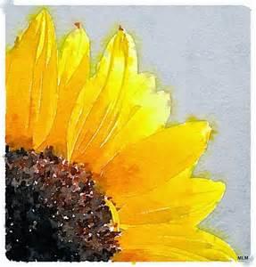 sweet leaf notebook watercolor sunflowers