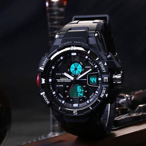 Traveller Tempat Jam Tangan Sport Isi 3 Black Crem sanda jam tangan sporty pria sd 289 black blue