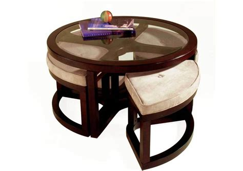 four stool coffee table wooden coffee table with four stools