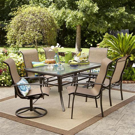 garden oasis harrison  pc textured glass top dining set