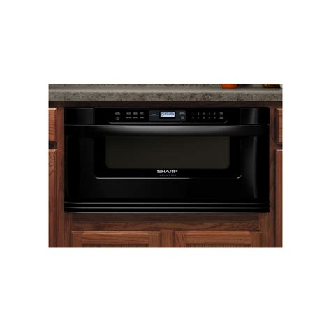 Lowes Microwave Drawer by Shop Sharp 30 In 1 Cu Ft Microwave Drawer Black At Lowes