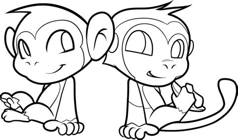 monkey coloring pages online free printable monkey coloring pages for kids