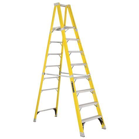 louisville ladder 8 ft fiberglass platform step ladder