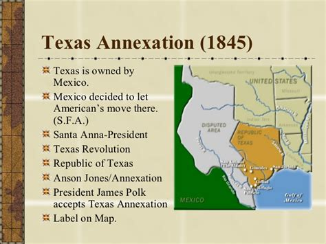 map of texas annexation manifest destiny land territories