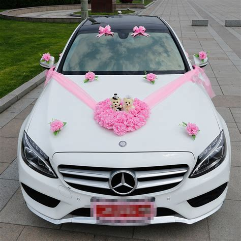 Wedding Car Flower Decorations Set Artificial Flowers Silk
