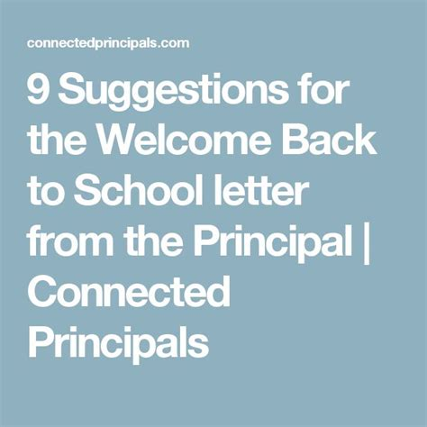 9 suggestions for the welcome back to school letter from