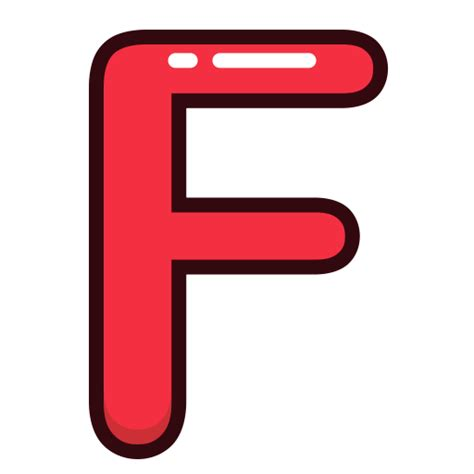 Letters F Letter Red Alphabet Icon