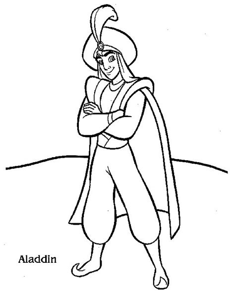 free printable aladdin coloring pages for kids