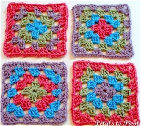 pattern crochet granny square basic pretty simple granny square allfreecrochetafghanpatterns com