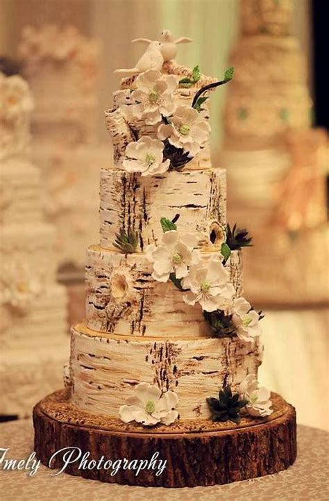 Hochzeitstorte Baum by 50 Budget Friendly Rustic Real Wedding Ideas Hative