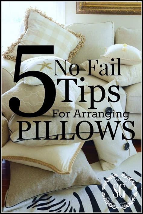How To Arrange Pillows On A Sofa Title Page For Pinning