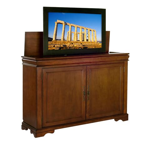 Flat Screen Tv Lift Cabinet by Landmark Size Tv Lift Cabinet For Flat Screen