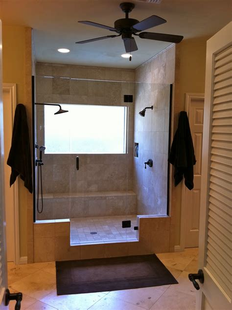 Baths With Shower Remodelaholic Master Bathroom Remodel With Double Shower