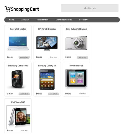 html shopping cart template buster 30 free and inspiring templates