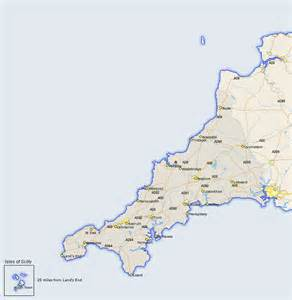 st map st minver map and road maps of cornwall uk