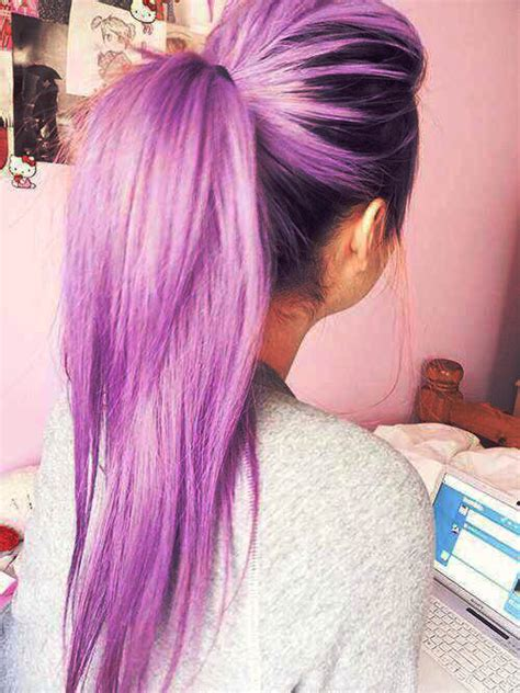 cute color hairstyles tumblr hair cute purple hair cute girl long hair pastel hair pony