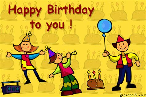Animated Child Birthday Card Happy Birthday To You