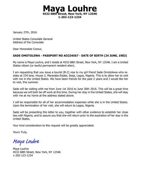 invitation letter   visa  tourist