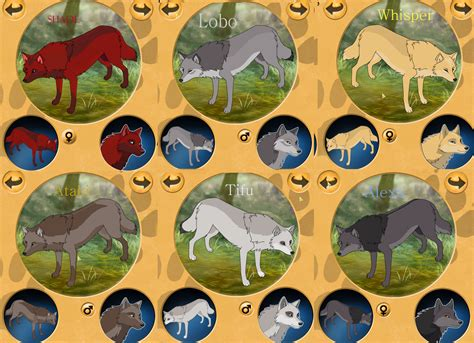 wolf maker design your wolf characters make your own anime wolf pack www pixshark com images