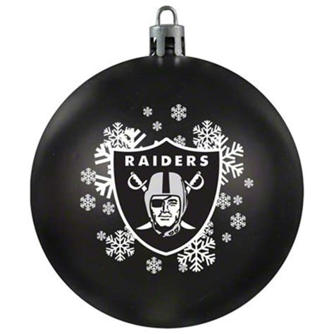 oakland raiders shatterproof ornament football christmas