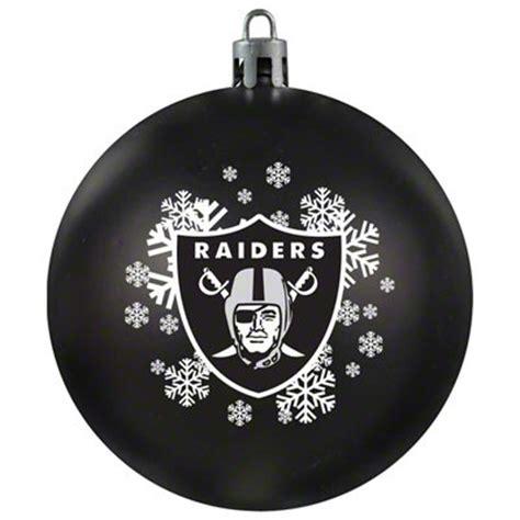 oakland raiders shatterproof ornament football christmas