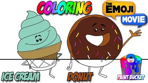 ice cream emoji movie 100 junk food coloring pages free downloadable