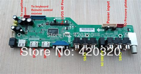 Lcd Tv Controller Board aliexpress buy universal lcd tv controller driver board t vst59s 21 hd tv v59 dual hdmi