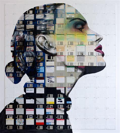 design art technology floppy disk art by nick gentry wallart101