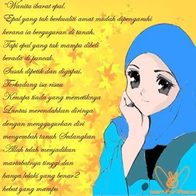 gambar wanita muslimah  kata mutiara