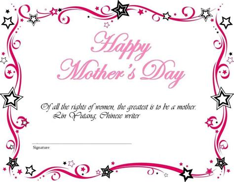 mothers day template mothers day cards printable template update234