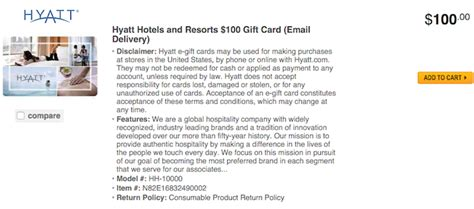 Hyatt Gift Cards - discounts on american hyatt gift cards with amex offers one mile at a time