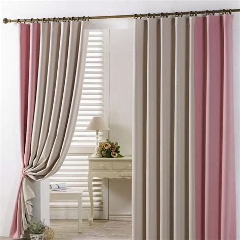 pink and beige curtains best insulated and thermal beige pink blackout curtains