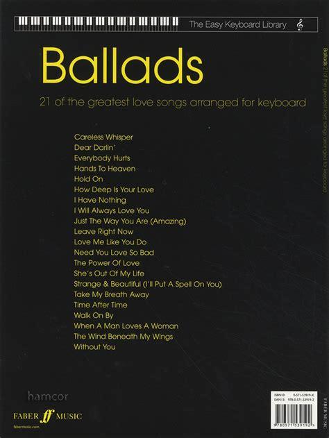 libro izas ballad la tastiera facile libreria ballate spartiti musicali