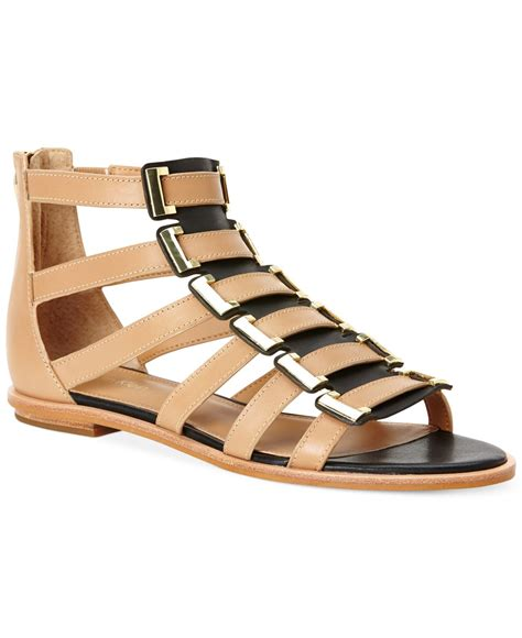 klein sandals calvin klein s undina gladiator sandals in brown lyst