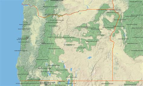 map of oregon forests oregon chapter club