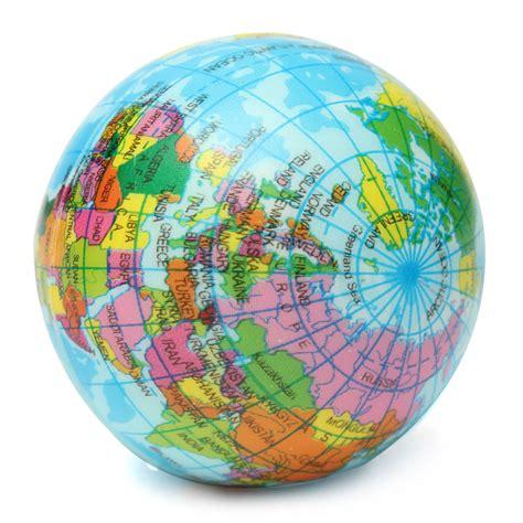 earth globe planet world map foam stress relief bouncy