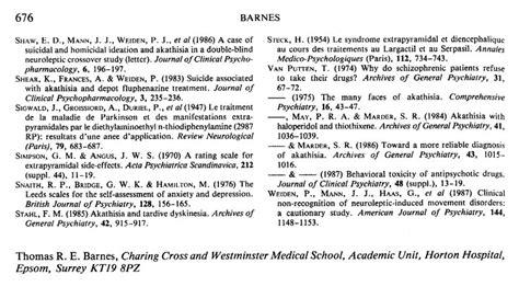 Barnes Akathisia Scale pharmaceuticals anonymous barnes akathisia scale