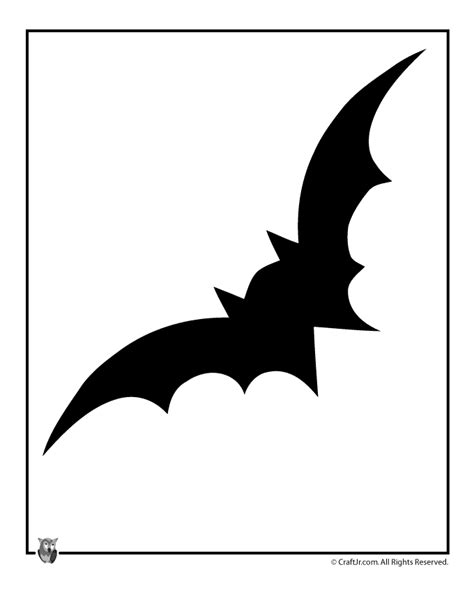 bat halloween template woo jr kids activities