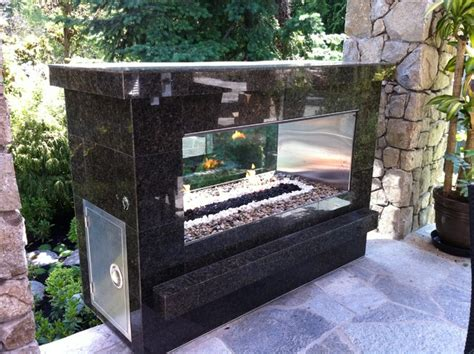 outdoor see through fireplace see thru fireplace modern pits vancouver by