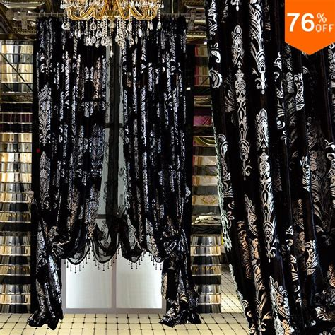 black and silver curtains aliexpress com buy medusa black silver embroidery