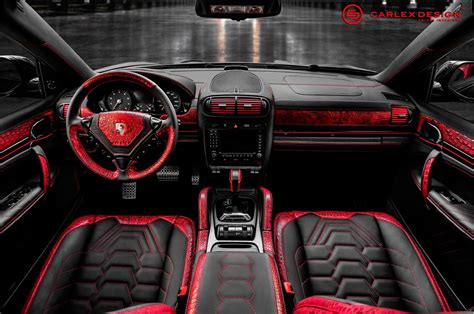 white porsche red interior porsche cayenne goes reptilian with red crocodile leather