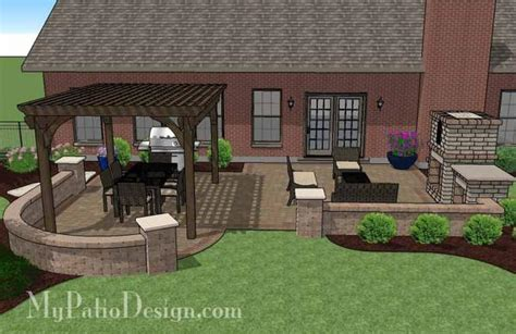 my patio design traditional patio design with pergola and fireplace