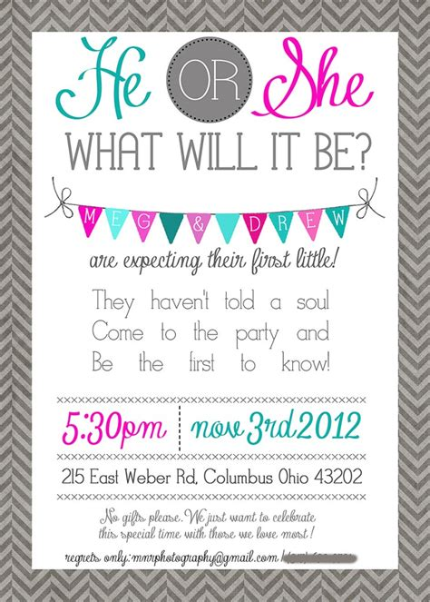 gender reveal party invitation wording afoodaffair me