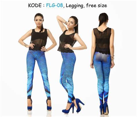 Celana Senam Putih flg8 90rb jual legging abstrak biru senam legging and