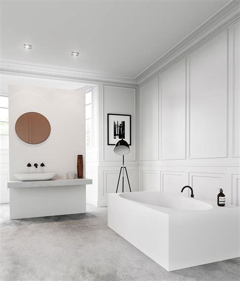 Simple White Bathrooms by Bathroom Decor Ideas Which Show A Classic And