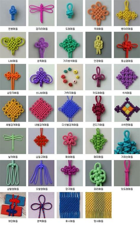 Different Types Of Bracelet Knots - bracelets graphics and decorative knots
