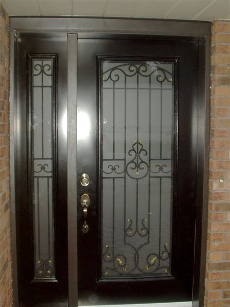 Exterior Door Glass Inserts Wrought Iron Windoors Canada